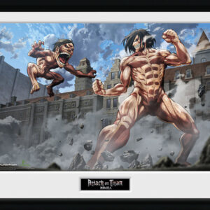 Posters Attack On Titan - Titan Fight rám s plexisklem - Posters