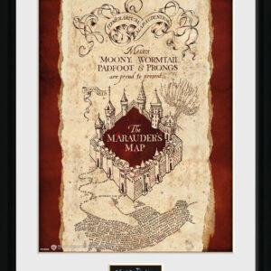Posters Harry Potter - Marauder's Map rám s plexisklem - Posters