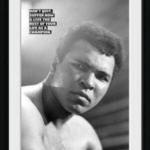 Posters Muhammad Ali - Don't Quit rám s plexisklem - Posters