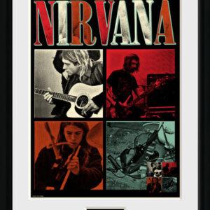 Posters Nirvana - Squares rám s plexisklem - Posters