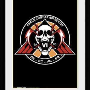 Posters Call of Duty Infinite Warfare - Scar Logo rám s plexisklem - Posters
