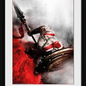 Posters God of War - Kratos Sparta Wing rám s plexisklem - Posters
