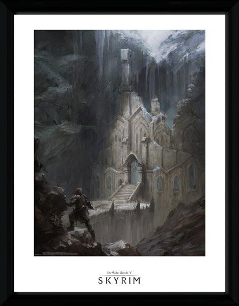 Posters Skyrim - Elf Temple rám s plexisklem - Posters