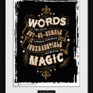 Posters Harry Potter - Words rám s plexisklem - Posters