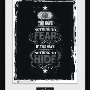 Posters Harry Potter - Fear rám s plexisklem - Posters