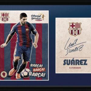 Posters Barcelona - Suarez Vintage 16/17 rám s plexisklem - Posters