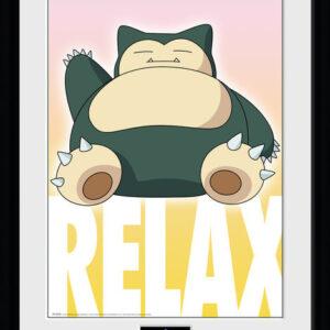 Posters Pokemon - Snorlax rám s plexisklem - Posters