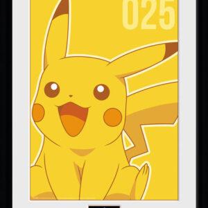 Posters Pokemon - Pikachu Mono rám s plexisklem - Posters
