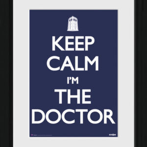 Posters Doctor Who - Keep Calm rám s plexisklem - Posters