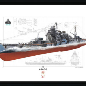 Posters World Of Warships - Atago rám s plexisklem - Posters