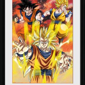Posters Dragon Ball Z - 3 Gokus rám s plexisklem - Posters