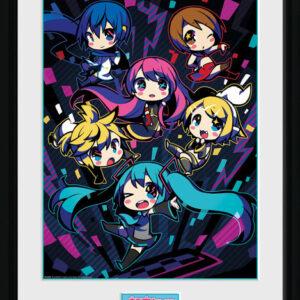 Posters Hatsune Miku - Neon Chibi rám s plexisklem - Posters