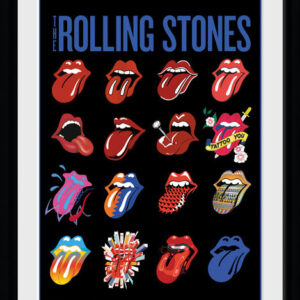 Posters The Rolling Stones - Tongues rám s plexisklem - Posters