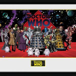 Posters Doctor Who - Villains Landscape rám s plexisklem - Posters