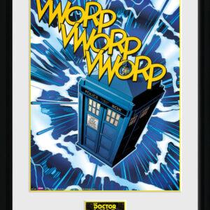 Posters Doctor Who - Tardis Comic rám s plexisklem - Posters