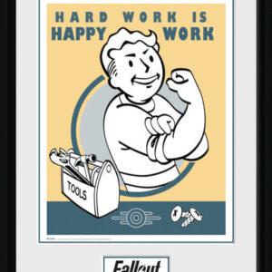 Posters Fallout - Hard Work rám s plexisklem - Posters
