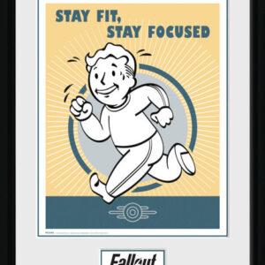 Posters Fallout - Stay Fit rám s plexisklem - Posters