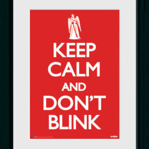 Posters Doctor Who - Keep Calm & Don't Blink rám s plexisklem - Posters
