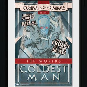 Posters Batman Comic - Circus Coldest Man rám s plexisklem - Posters