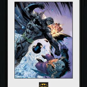 Posters Batman Comic - Fist Fight rám s plexisklem - Posters