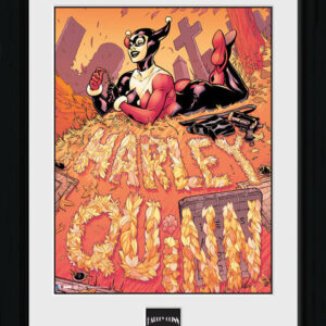 Posters Batman Comic - Harley Quinn Graveyard rám s plexisklem - Posters