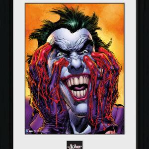 Posters Batman Comic - Joker Laugh rám s plexisklem - Posters