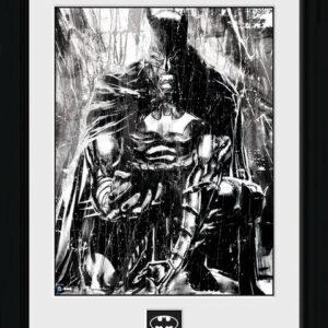 Posters Batman Comic - Rain rám s plexisklem - Posters