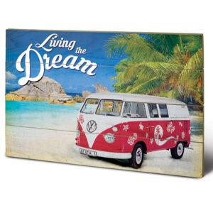 Posters Obraz na dřevě - VW - Living the Dream