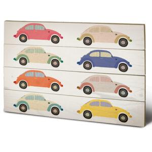 Posters Obraz na dřevě - VW - Beetle Cars Pop Art