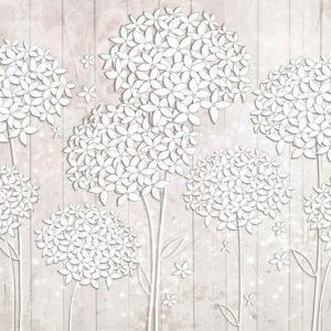 Posters Fototapeta Pattern Flowers 254x184 cm - 115g/m2 Paper - Posters