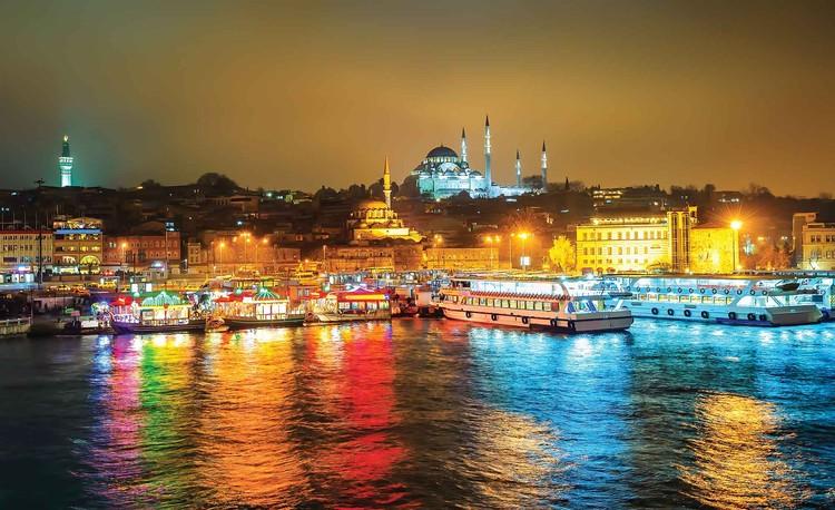 Posters Fototapeta City Turkey Bosphorus Multicolour 254x184 cm - 115g/m2 Paper - Posters