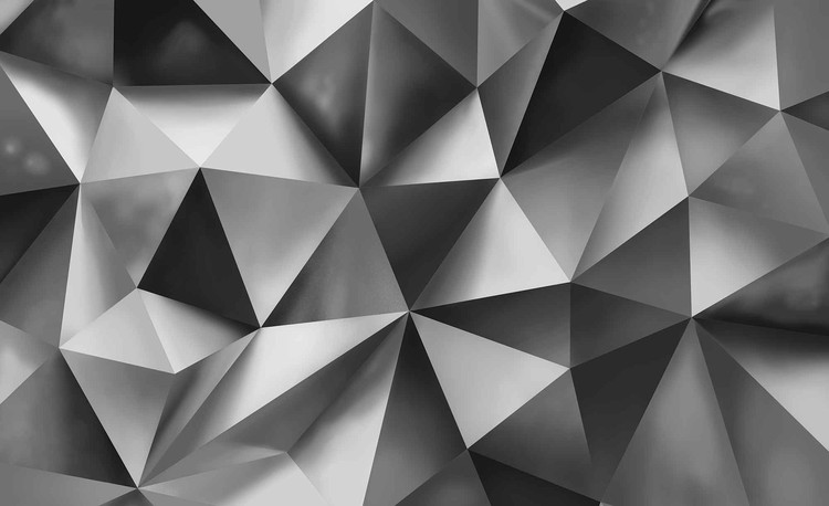 Posters Fototapeta Abstract Art Grey 254x184 cm - 115g/m2 Paper - Posters