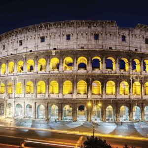 Posters Fototapeta Colloseum At Night 368x254 cm - 115g/m2 Paper - Posters