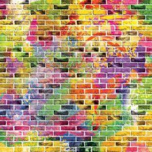 Posters Fototapeta Bricks Multicolour 254x184 cm - 115g/m2 Paper - Posters