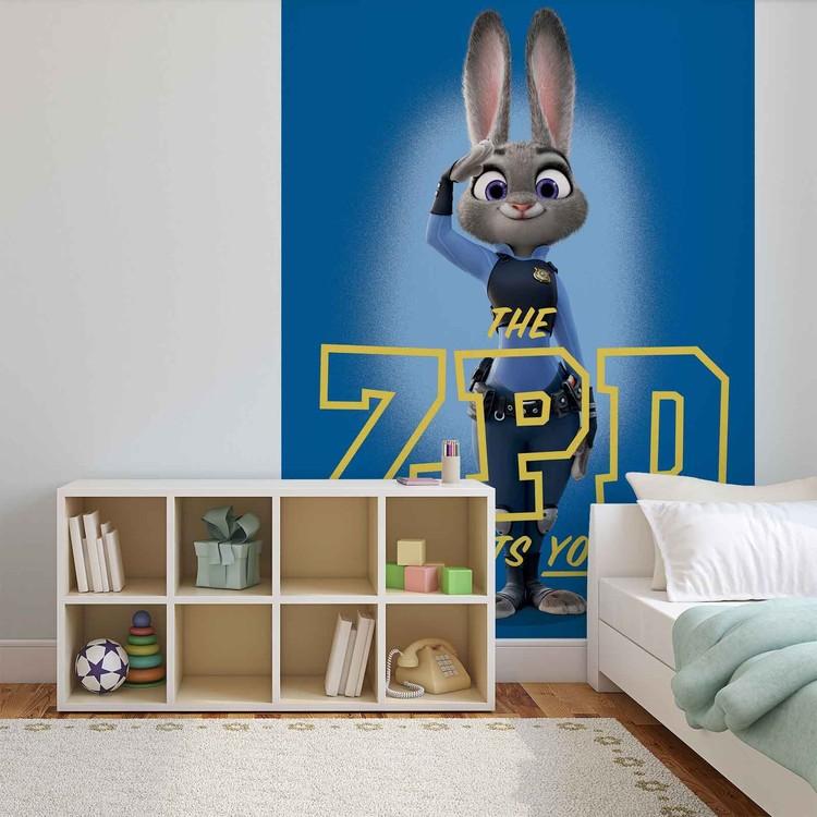 Posters Fototapeta Disney Zootopia 206x275 cm - 130g/m2 Vlies Non-Woven - Posters