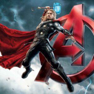 Posters Fototapeta Marvel Avengers Thor 254x184 cm - 115g/m2 Paper - Posters
