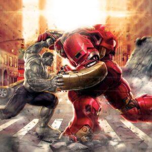 Posters Fototapeta Marvel Avengers Fighting Allies 254x184 cm - 115g/m2 Paper - Posters