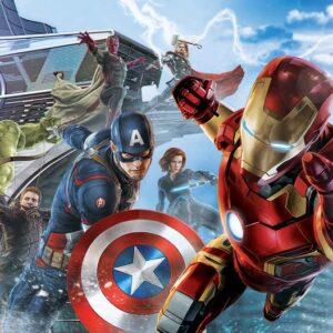 Posters Fototapeta Marvel Avengers Team 152.5x104 cm - 130g/m2 Vlies Non-Woven - Posters
