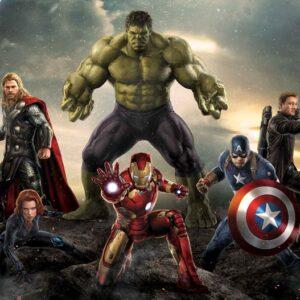 Posters Fototapeta Marvel Avengers Battle 368x254 cm - 115g/m2 Paper - Posters