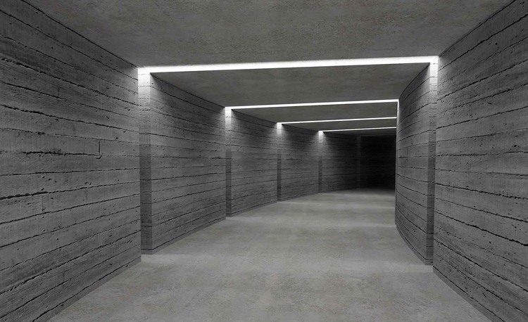 Posters Fototapeta Hallway Ligths 152.5x104 cm - 130g/m2 Vlies Non-Woven - Posters