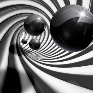 Posters Fototapeta Abstract Swirl Modern Spheres 254x184 cm - 115g/m2 Paper - Posters