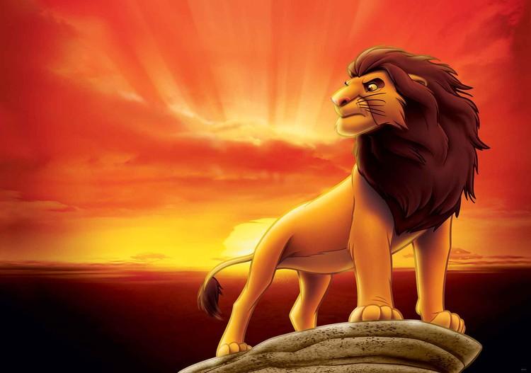 Posters Fototapeta Disney Lion King Sunrise 206x275 cm - 130g/m2 Vlies Non-Woven - Posters