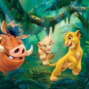 Posters Fototapeta Disney Lion King Pumba Simba 254x184 cm - 115g/m2 Paper - Posters