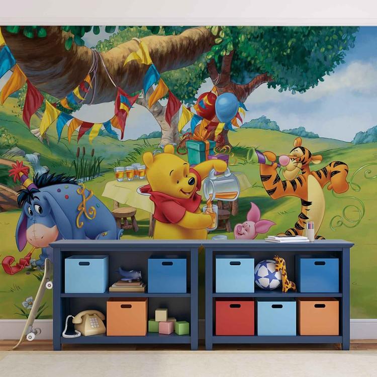 Posters Fototapeta Disney Winnie Pooh Piglet Tigger Eeyore 254x184 cm - 115g/m2 Paper - Posters
