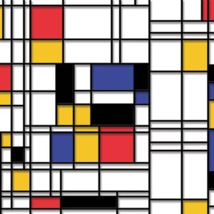 Posters Fototapeta Mondrian Modern Art 254x184 cm - 115g/m2 Paper - Posters