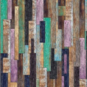 Posters Fototapeta Wood Planks Painted Rustic 254x184 cm - 115g/m2 Paper - Posters