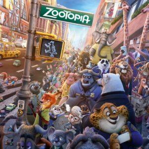 Posters Fototapeta Walt Disney Zootopia 254x184 cm - 115g/m2 Paper - Posters