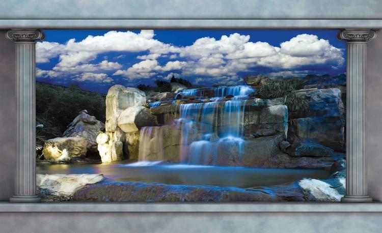 Posters Fototapeta Waterfall 368x254 cm - 115g/m2 Paper - Posters
