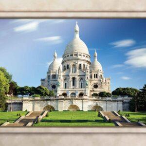 Posters Fototapeta Paris Sacre Coeur Window View 254x184 cm - 115g/m2 Paper - Posters