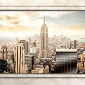 Posters Fototapeta New York City View Pillars 254x184 cm - 115g/m2 Paper - Posters